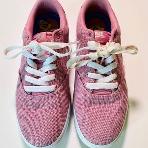 NIKE SB SOLAR SOFT PINK CANVAS SHOES SNEAKERS